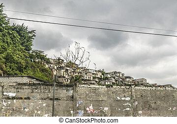 Poor Neighborhood, Guayaquil, Ecuador - Populated poor...