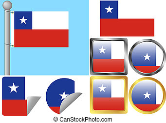 Flag Set Chile