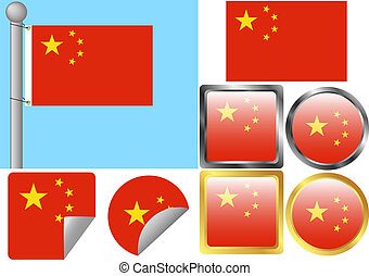Flag Set China