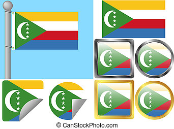 Flag Set Comoros