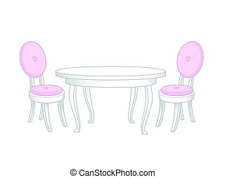 Dining set. Dining table and chairs