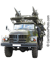 Russian mobile antiaircraft missile complex on a truck...