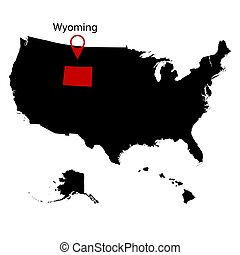 U.S. state on the . map Wyoming