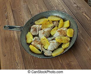 Manchons de canard confits.Duck legs. French cuisine