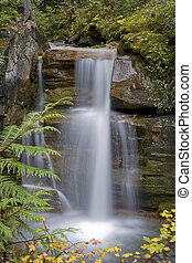 Lower Waterfall - Waterfall cascading a 15 foot rock face
