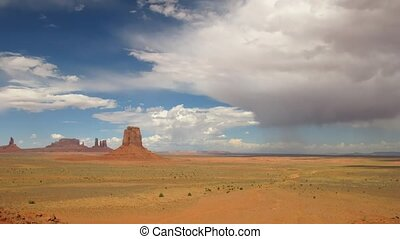Monument Valley - Time lapse Thunderstorm over Monument...