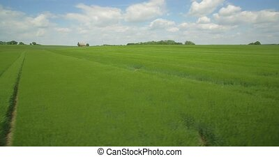 Aerial, Flight Above German Farmland, South Germany - Native...