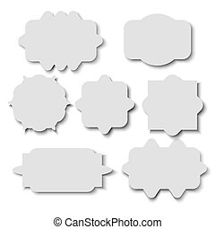 Blank sticker template over white background