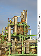 Refineries - High Dynamic Range impression of refineries in...