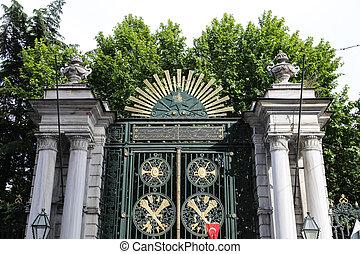 Galatasaray High School in Istiklal avenue, Istanbul, Turkey...