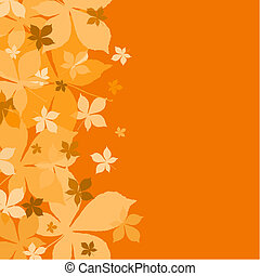 autumn background   - autumn background with chestnut leaves