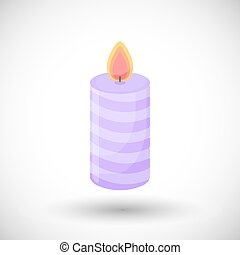 Candle vector flat icon - Candle icon, Flat design of...
