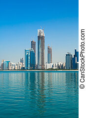 Modern city quay - Astonishing view to the city quay from...