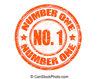 number one stamp - Grunge rubber stamp with the text number...
