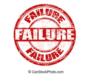 Failure stamp - Red grunge rubber stamp with the word...