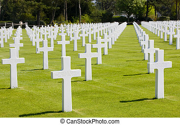 American Military Cemetery, Omaha Beach, Colleville-sur-Mer,...