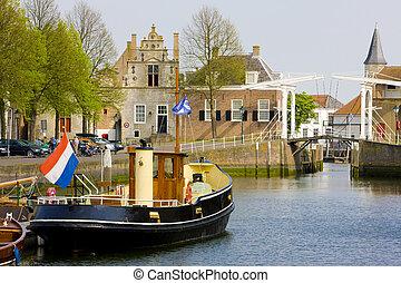 Zierikzee, Zeeland, Netherlands - drawbridge, Zierikzee,...
