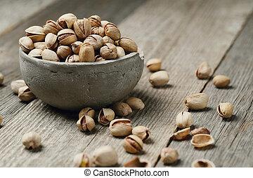 Pistachios - Snacks. Pistachios in a bowl
