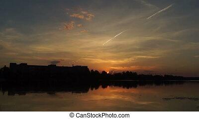 Beautiful lake dawn