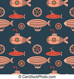 Seamless pattern steampunk. - Seamless pattern in the style...