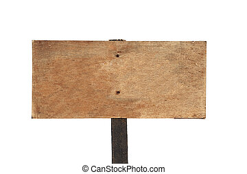 Blank Wooden Sign - Rustic blank wooden sign on a hiking...