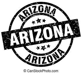 Arizona black round grunge stamp