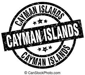 Cayman Islands black round grunge stamp