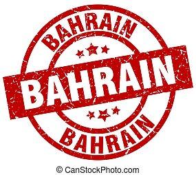 Bahrain red round grunge stamp