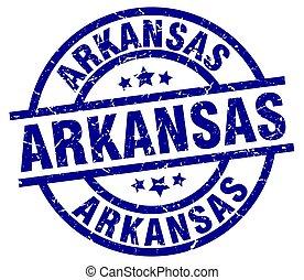 Arkansas blue round grunge stamp