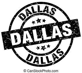 Dallas black round grunge stamp
