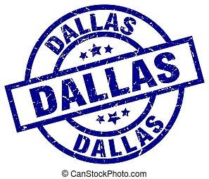 Dallas blue round grunge stamp