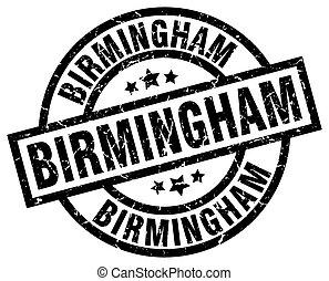 Birmingham black round grunge stamp