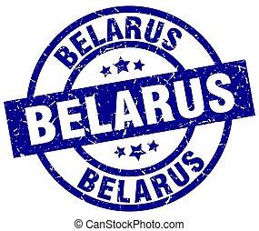 Belarus blue round grunge stamp