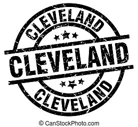 Cleveland black round grunge stamp
