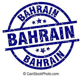 Bahrain blue round grunge stamp