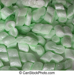 Polystyrene beads used for protective package insulation