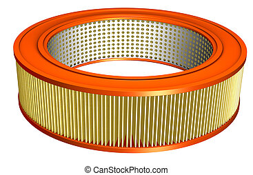 Air Filter - Air filter for an automobile with clipping path