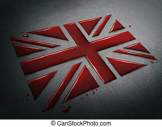 Tragedy In Britain - Tragedy in Britain concept as the blood...