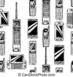 Pattern with mobile phone.