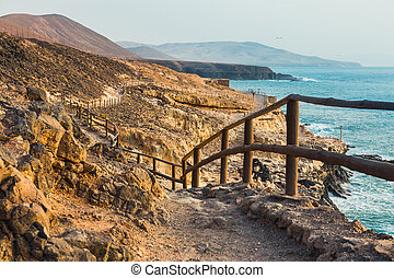 caves near Ajuy village on Fuerteventura, Canary Island, Spain