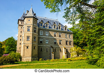 Renaissance style castle located in Goluchow near Kalisz,...
