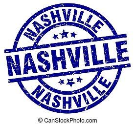 Nashville blue round grunge stamp