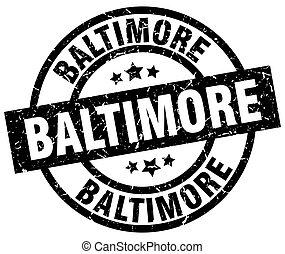 Baltimore black round grunge stamp