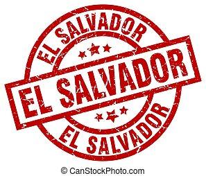 El Salvador red round grunge stamp