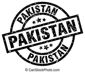 Pakistan black round grunge stamp