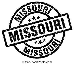 Missouri black round grunge stamp
