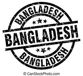 Bangladesh black round grunge stamp