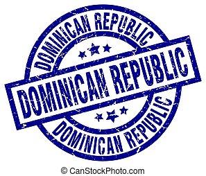 Dominican Republic blue round grunge stamp