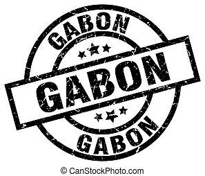 Gabon black round grunge stamp