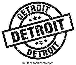 Detroit black round grunge stamp